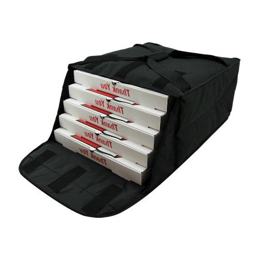 Central Exclusive PBF4 Insulated Pizza Bag - Fabric, Holds (5) 16'' Pizzas