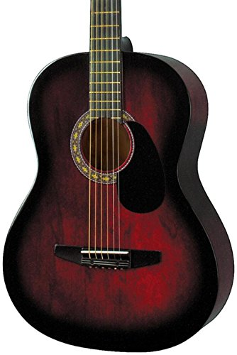 Best Rogue Guitars - Rogue Starter Acoustic Guitar Red