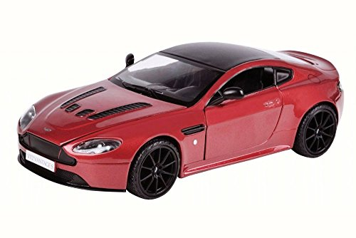 Motor Max Aston Martin V12 Vantage S Coupe, Red 79322R/6 - 1/24 Scale Diecast Model Toy Car