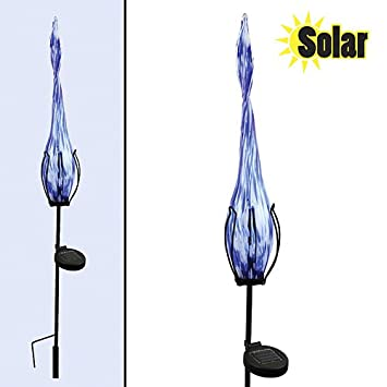 Amazoncom Red Carpet Studios Solar Light with Stake Blue and