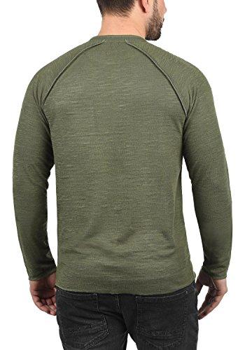 mit 100Baumwolle Oliv3784 Sweatshirt Don solid Sweatshirt Herren Sweatshirt Rundhalsausschnitt Dusty 435ARjLq