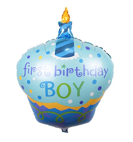 [Birthday Cake Candle air balls helium Foil Balloons Happy Birthday Party (Blue)] (Hot Dog On A Stick Costumes)