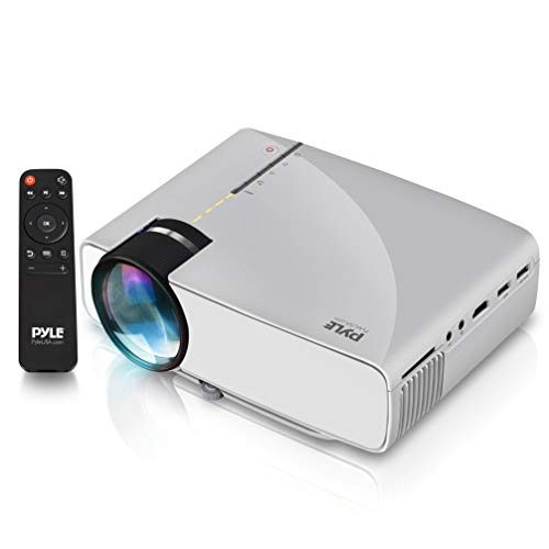 Portable Multimedia Home Theater Projector - Compact HD 1080p High Lumen LED w/USB, HDMI, 50' to 130' Inch Adjustable Screen in Your Mac or PC, Built-in Stereo Speaker and Remote Control - Pyle