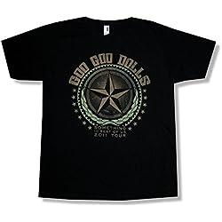 Goo Goo Dolls Star Rest of US 2011 Tour Black T Shirt (L)