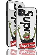 """SUP Frog Case [ Compatible con el iPhone 11-6.1"""", Blanco ] Adecuado para Supreme x Kermit la Rana - Sentir la Portada con Motivos 3D sólido"""