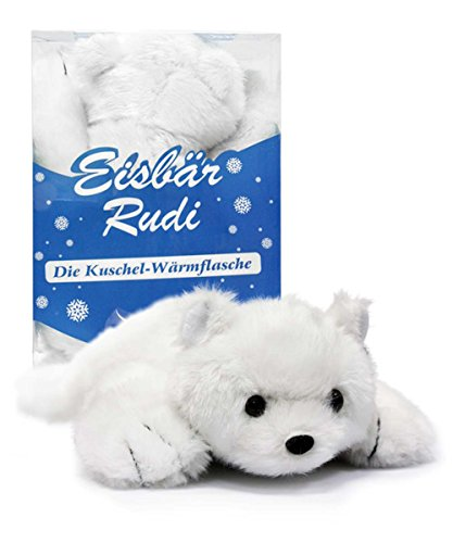 Kinder-Wärmflasche Eisbär Rudi 1362-05 0,5 L, sehr flauschig