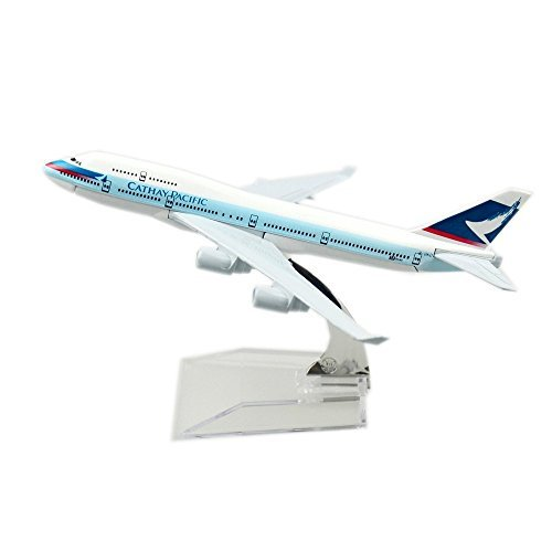 Cathay Pacific Airways Boeing 747 Alloy Metal Souvenir Model Airplane By 24 Hours