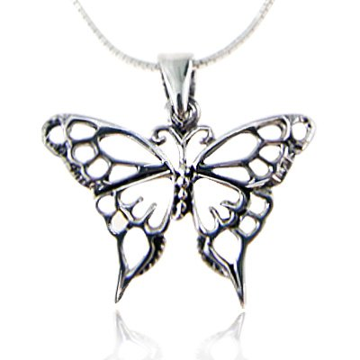 925-sterling-silver-open-celtic-butterfly-pendant-necklace-18-inch-snake-chain