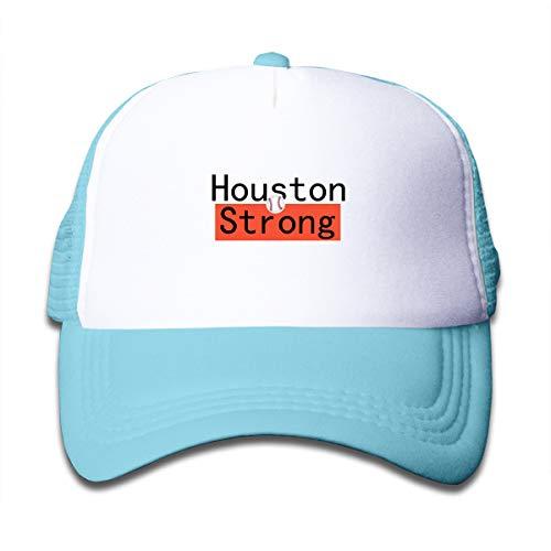Banana King Houston Strong Toddler Baby Boy Girl Baseball Summer Mesh Caps Trucker Hats for Boys Girls Sky Blue]()