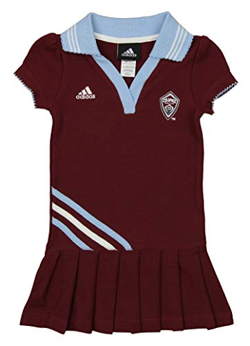 MLS Toddler Girl's Colorado Rapids Polo Dress, Maroon 3T