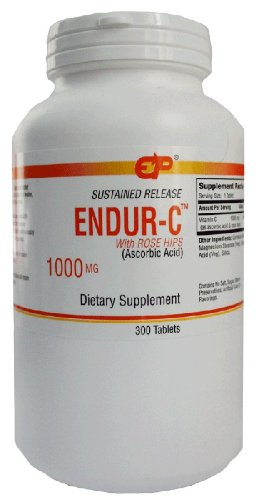 (ENDUR-C with Rose Hips Sustained Release Vitamin C 1000mg, 300 Tabs)