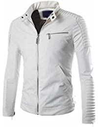 Amazon.com: White - Leather & Faux Leather / Jackets & Coats ...