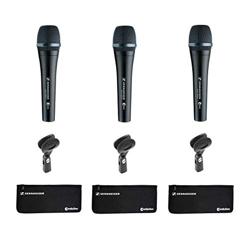 Sennheiser e945 Supercardioid Dynamic Handheld Vocal Microphone - 3 Pack (Vocal Handheld Microphone Supercardioid)