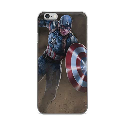 Arts Captain Sheild American Avengerss Superhero Stan-lee Movie Comic America New Shockproof Clear Case for iPhone 6 Plus/6s Plus