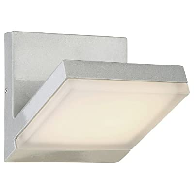 George Kovacs P1259--566-L Angle 1 Light Wall Sconce,Silver Dust