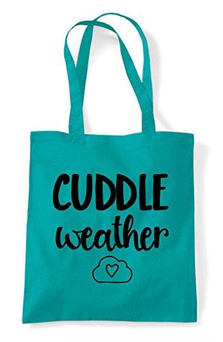 Cuddle Statement Bag Tote Shopper Weather Emerald Cute x0awqf0pv