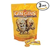 Ginger People Gin-Gins Natural Hard Candy Double Strength 3 Ounce Bags - (Pack of 3)