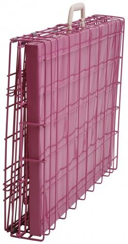 "Best Pet Pink 36"" Triple-Door Suitcase Style Folding Metal Dog Crate with Metal Pan - 36""(l) x 25""(w) x 28""(h)"