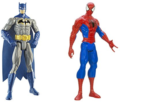 [Super Hero Batman & Spider-Man Titan Hero Series Action Figures Toys] (He Man Childrens Costume)