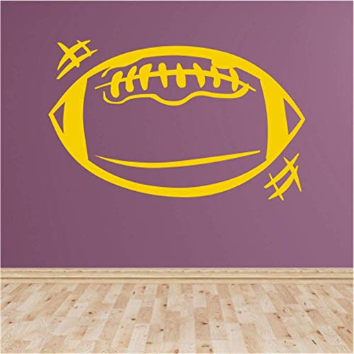 cal Sticker Wall Art Bible Letter Quotes Football Graphic for Boys Room Hose Home Decoration Gift Idea 29.3