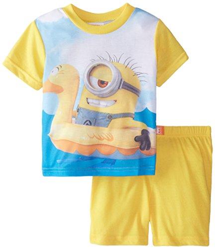 Despicable Me Little Boys' Ocean Fun 2 Piece Pajama Set, Multi, 4T