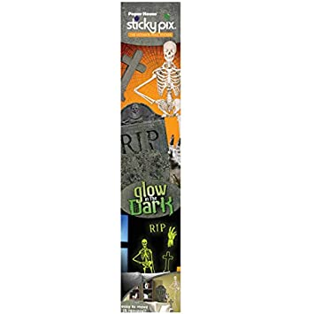 Amazon.com: bulk buys Glow in the Dark Skeleton Sticky Pix Wall ...