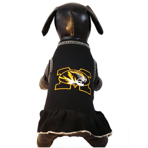 NCAA Missouri Tigers Cheerleader Dog Dress, Team Color, ()
