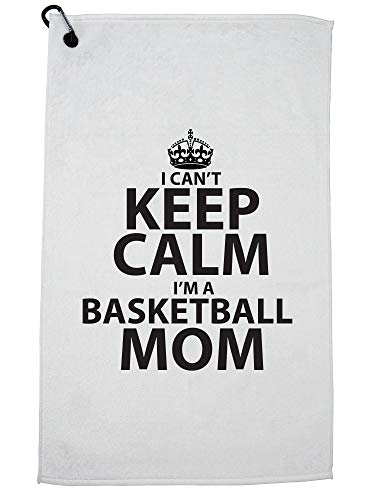 Hollywood Thread Funny I Can't Keep Calm I'm a Basketball Mom Golf Towel with Carabiner Clip by Hollywood Thread