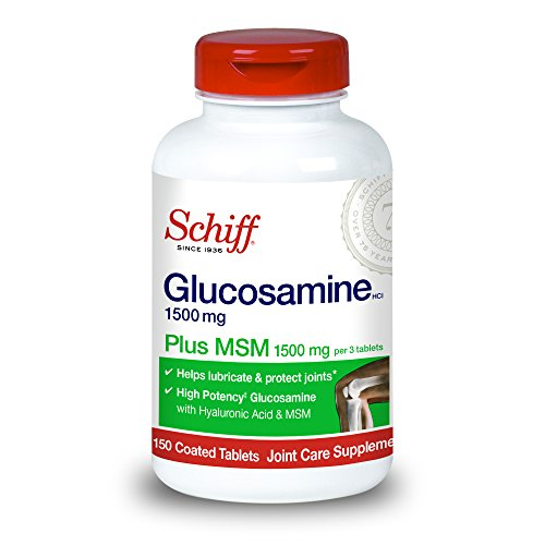 Schiff Glucosamine 1500mg Plus MSM and Hyaluronic Acid, 150 tablets – Joint Supplement