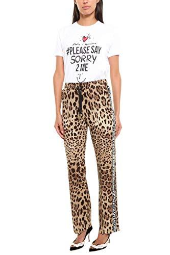 Gabbana Seta Beige Dolce amp; Fta65tfsaddhk13m Donna Pantaloni q7nTx8X