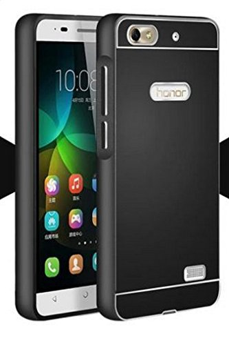 best service 8a674 a732b Higar Royal Metal Bumper with Acrylic Sheet Back Hard Cover Case for Huawei  Honor 4C CHM-U01 - Black
