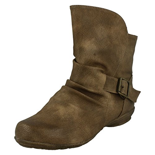 Ladies Spot On Ankle Boots Style - F50337 Taupe