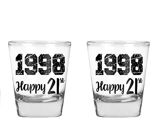 1998 Happy Birthday - Funny 21st Birthday Gift - 1.75 OZ Shot Glass (2)