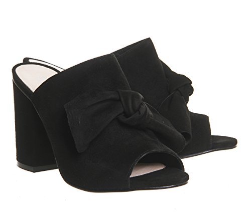 Office Black Bow Detail Aintree Suede Mules IwIqHpr