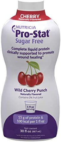 Pro-Stat Sugar-Free Protein Supplement Wild Cherry Punch Flavor 30 oz. Bottle Ready to Use, 10064 - Case of 6