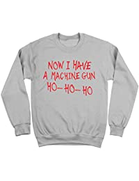 Now I Have A Machine Gun HO HO HO Funny Holiday Xmas Christmas John McClane 80s 90s Humor Mens Sweatshirt