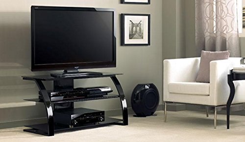 BELLO High Gloss Black A/v Metal And Glass Furniture For Up To 55-In Tvs from Bell'O