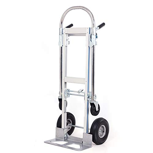 (SHZOND 2 in 1 Aluminum Hand Truck Dolly 770lbs Weight Capacity Convertible Hand Truck Utility Cart (2 in 1))