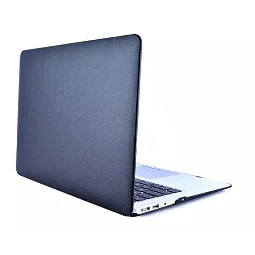 Hunputa Protective Cover Matte Hard Case For Macbook air 11-inch PC Hard Notebook Bag (Black) (11 Inch Chromebook Case Picture)