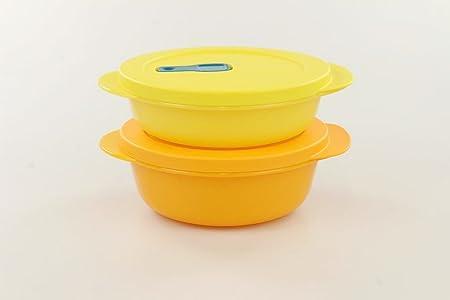 Tupperware Microondas crystalwave 600 ml naranja + Micro Pop 400 ...