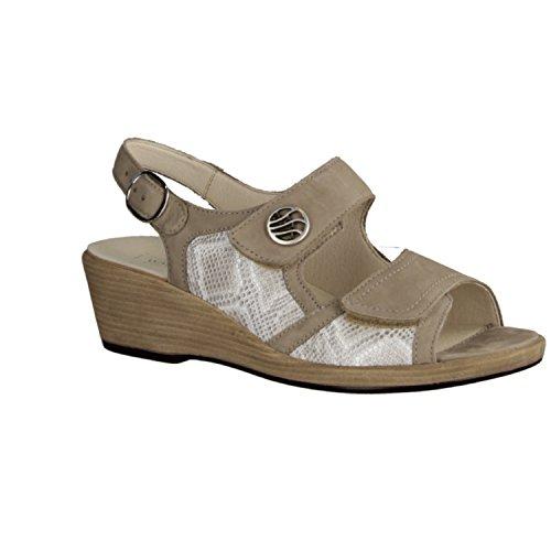 Wald fangpyre, 581012-621-094, Hamida, donna Comfort sandalo, Beige/Viper-corda