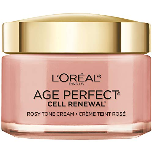 Face Moisturizer by L'Oreal Paris Skin Care, Age Perfect Cell Renewal Rosy Tone Face Moisturizer with LHA and Imperial Peony, Anti-Aging Day Cream for Face, Non-greasy, 2.5 ounce