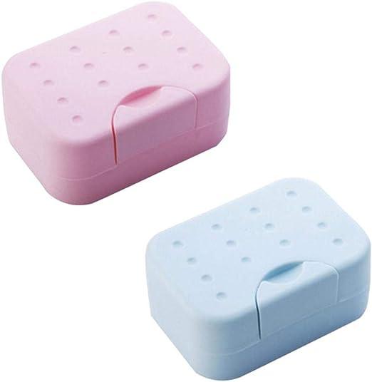 Compy Caja de jabón de Viaje Caja de jabón de plástico Resistente al Agua y Duradera para baño Familiar de Camping: Amazon.es: Hogar