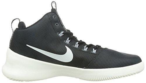Nike Mens Hyperfr3sh Rund Tå Duk Basket Skon (9 D (m) Oss, Svart / Segel-antracit-wolf Grå)
