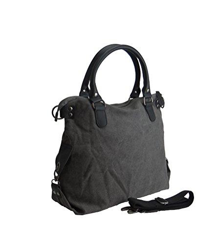 angesagte, topaktuelle Tasche, Umhängetasche,Shopper mit Stern grau
