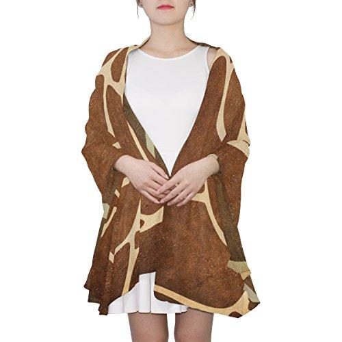 (Women's Scarf Silk Scarf Blanket Lightweight Neck Scarf with Giraffe Skin Print Shawl Wrap 70