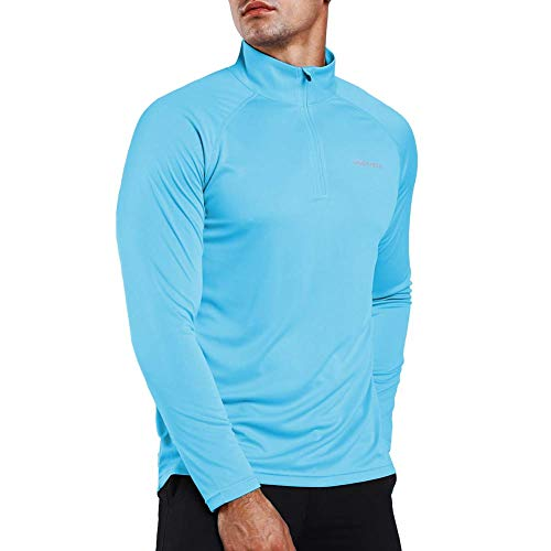 Ogeenier Men's 1/4 Zip Pullover UPF 50+ UV Sun Protection Long Sleeve Shirts Outdoor Running Athletic Shirts (Golf Athletic Pullover)