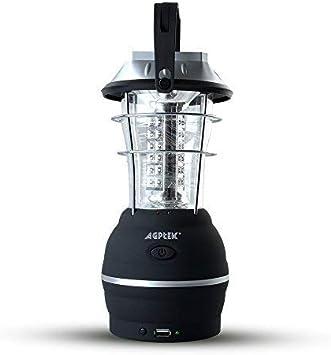 AGPTEK Solar Farol de Camping, Luz de Camping LED con 5 Modo de ...