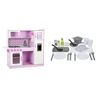 Melissa & Doug Cupcake Pink Chef's Kitchen with Accessory Set: Toys & Games