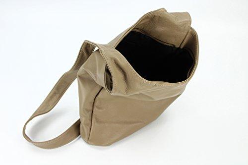 Belli - Bolso de hombro de cuero mujer Mud